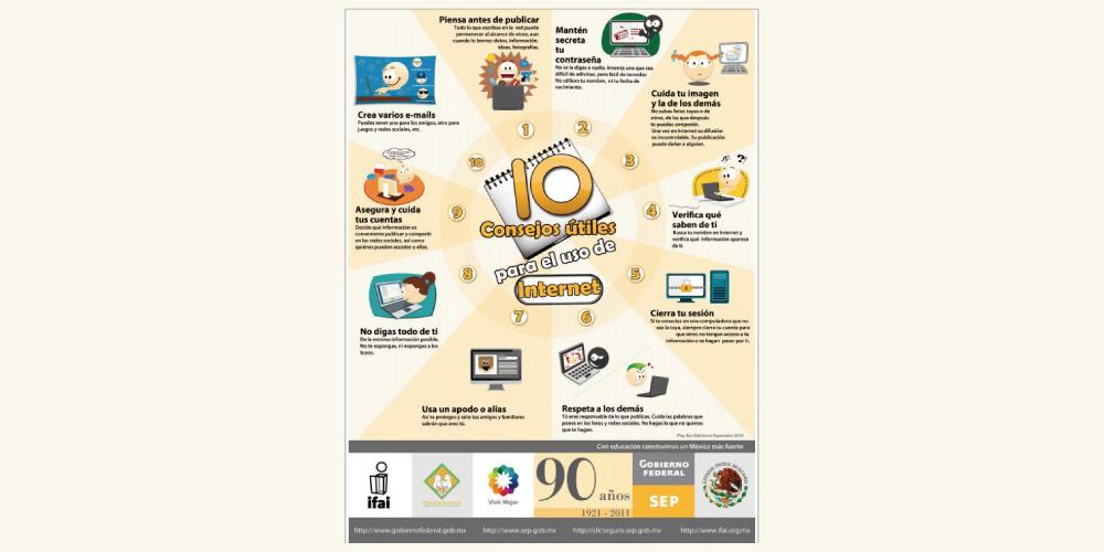 IFAI: 10 consejos útiles para el uso de Internet