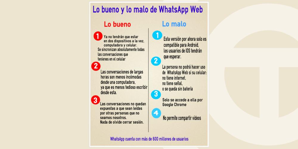 Lo bueno vs lo malo de WhatsApp Web