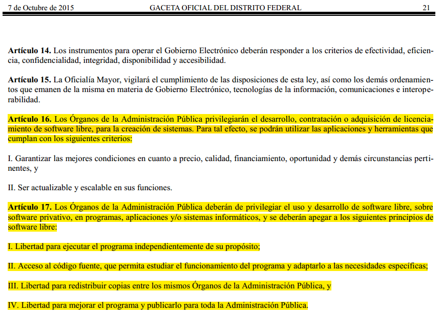 Ley de Gobierno electrónico del DF