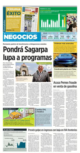 Advierten de robos por contraseñas (Reforma 11/07/2018)